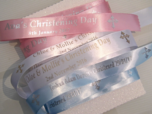Personalised Christening Ribbon